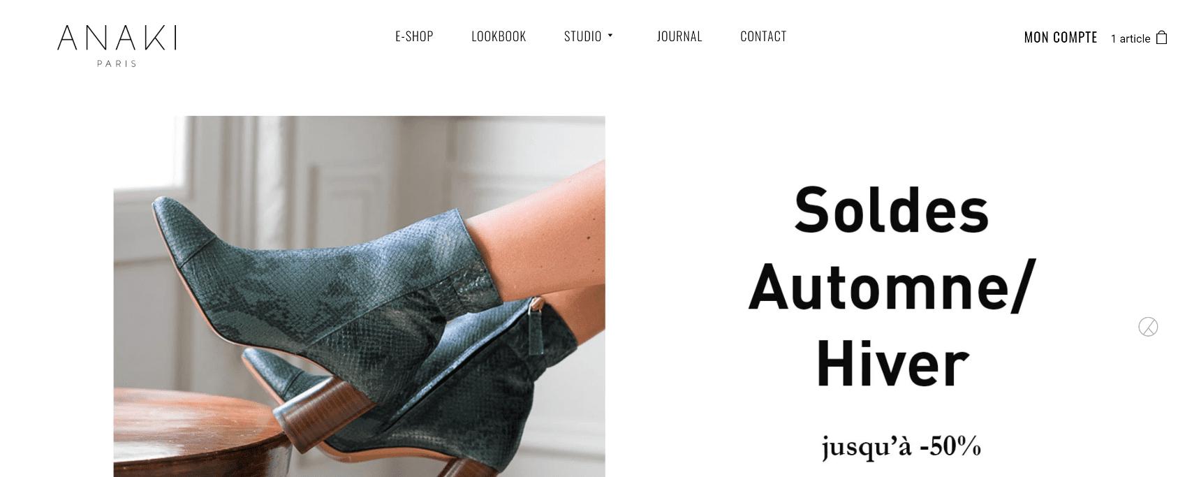 Boutique Shopify Anaki Paris