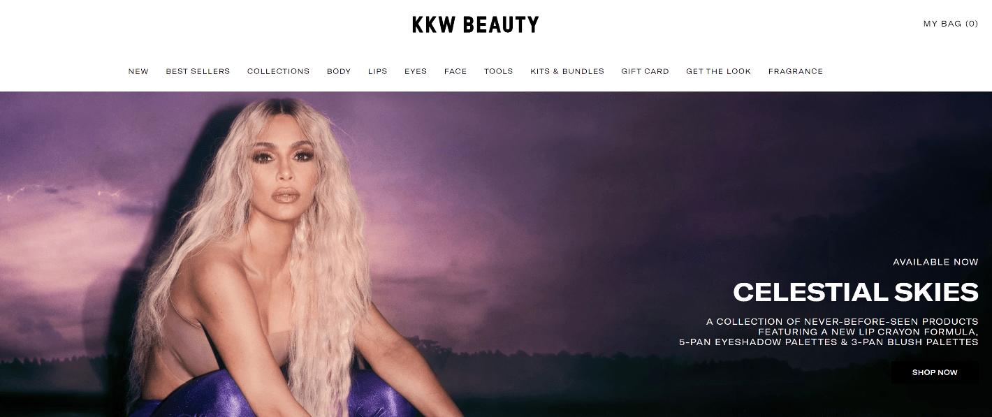 KKW Beauty sur Shopify